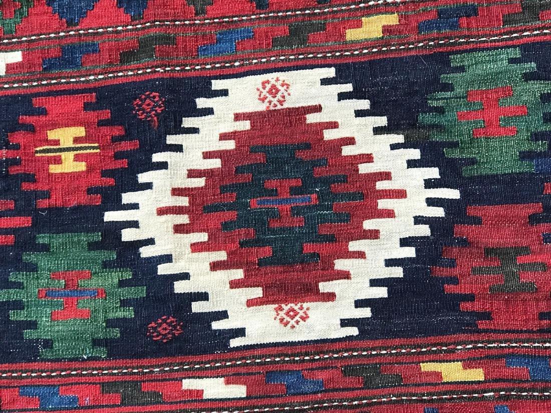 Vintage Shirvan Caucasian Kilim Rug 6.6x10.6 - 8