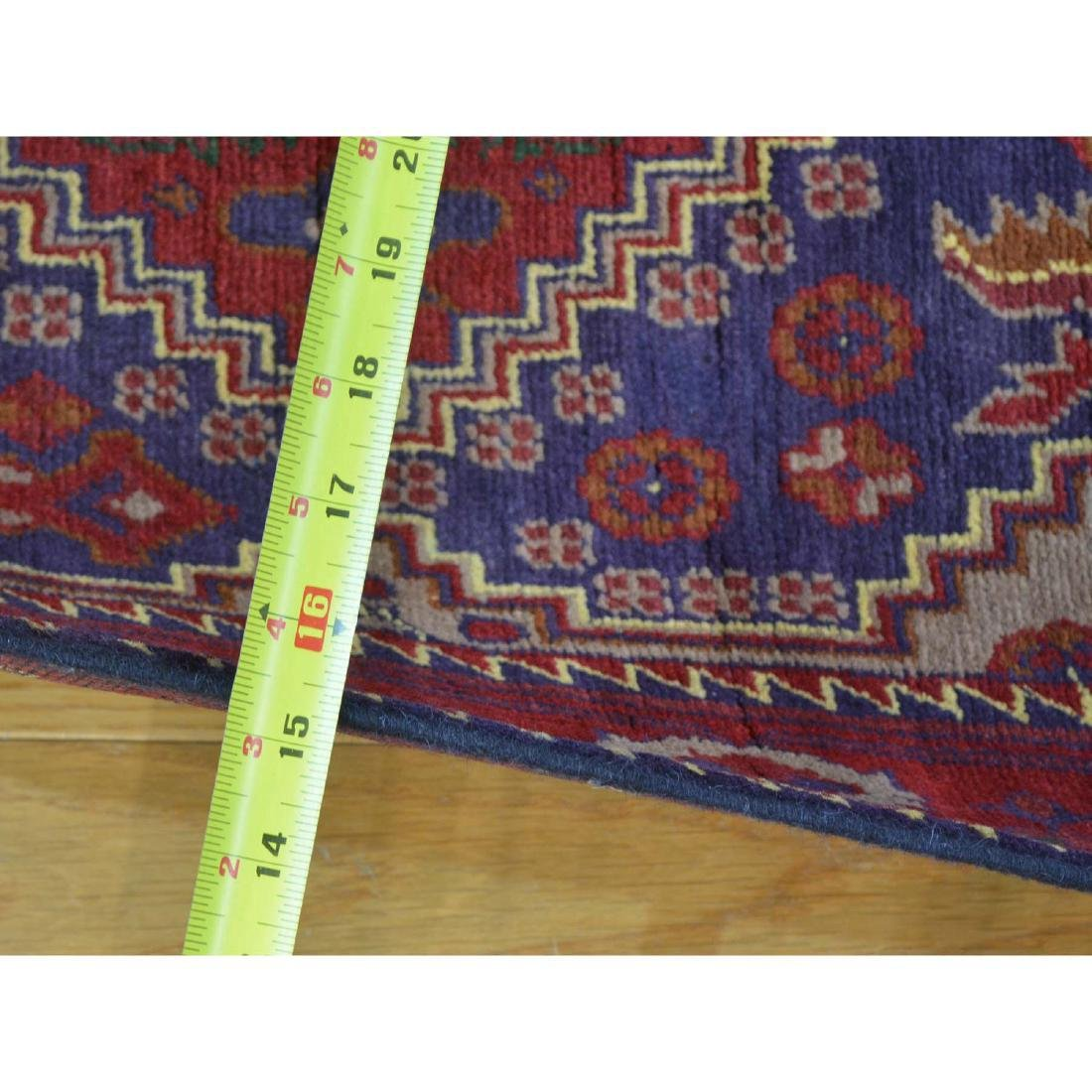 Runner Afghan Khamyab Handmade Rug 2.7x18.4 - 3