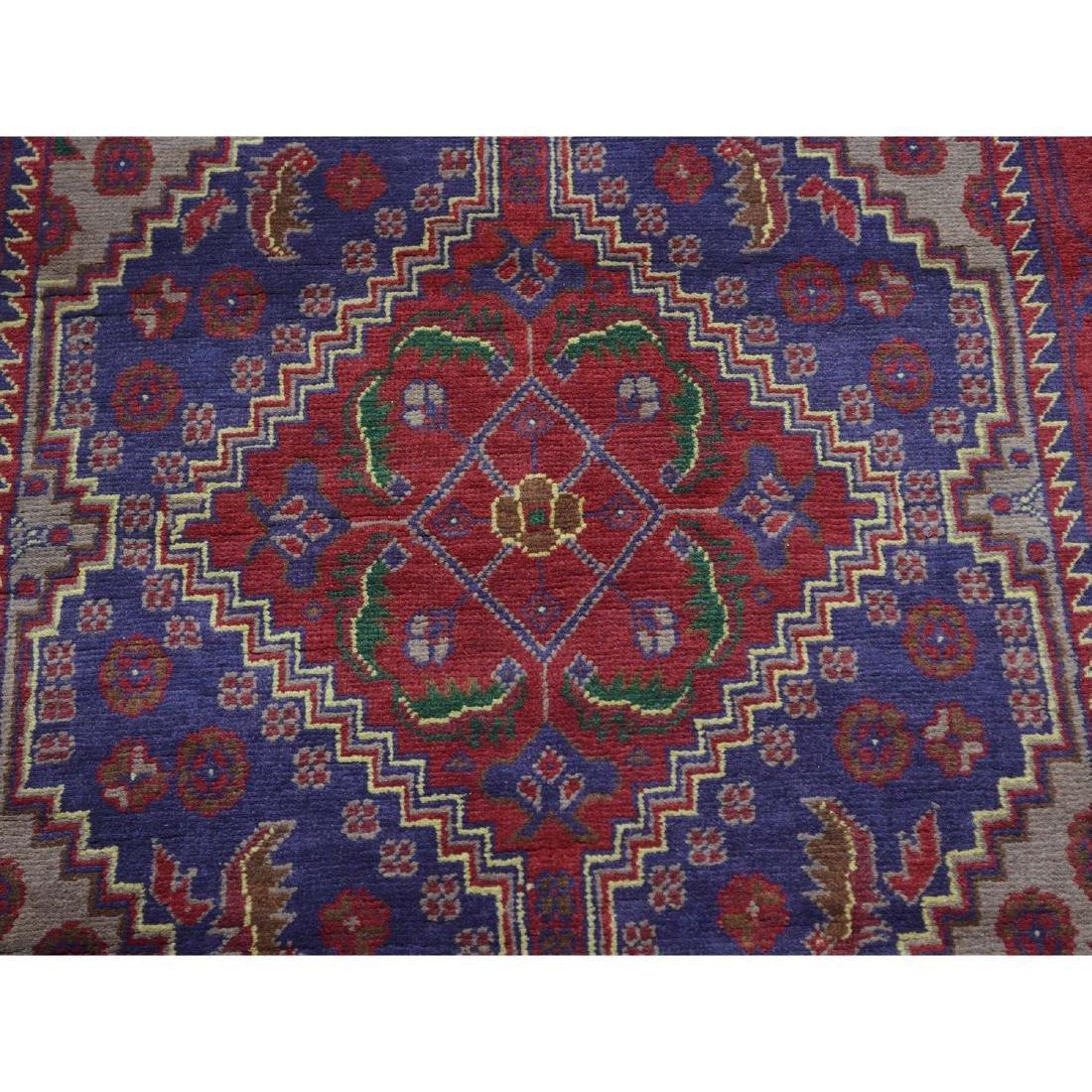 Runner Afghan Khamyab Handmade Rug 2.7x18.4 - 4