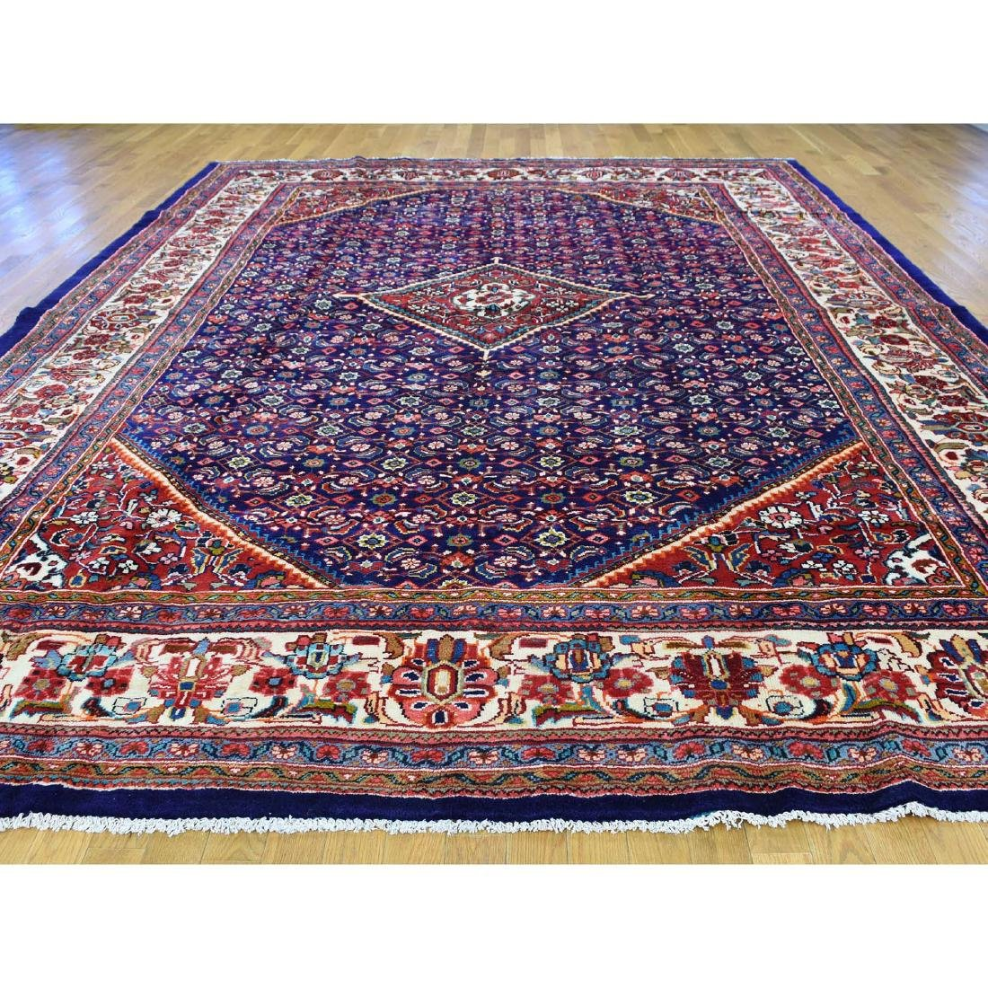 Hand Knotted Persian Mahal Pure Wool Blue Rug 10x13 - 2