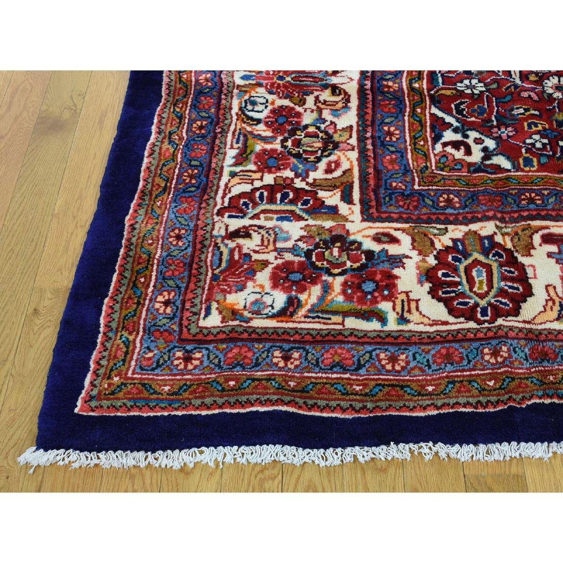 Hand Knotted Persian Mahal Pure Wool Blue Rug 10x13 - 5