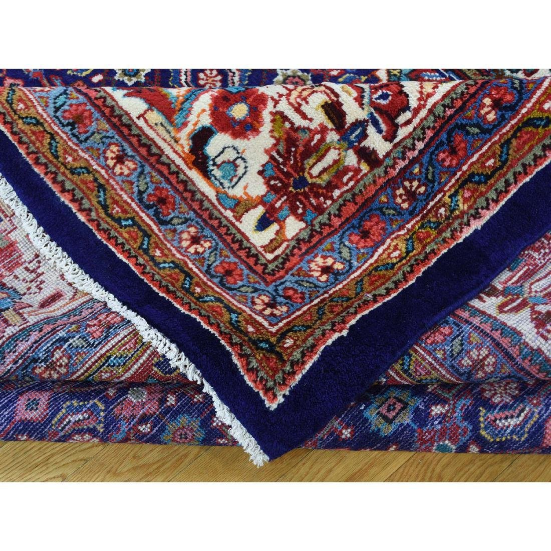 Hand Knotted Persian Mahal Pure Wool Blue Rug 10x13 - 7