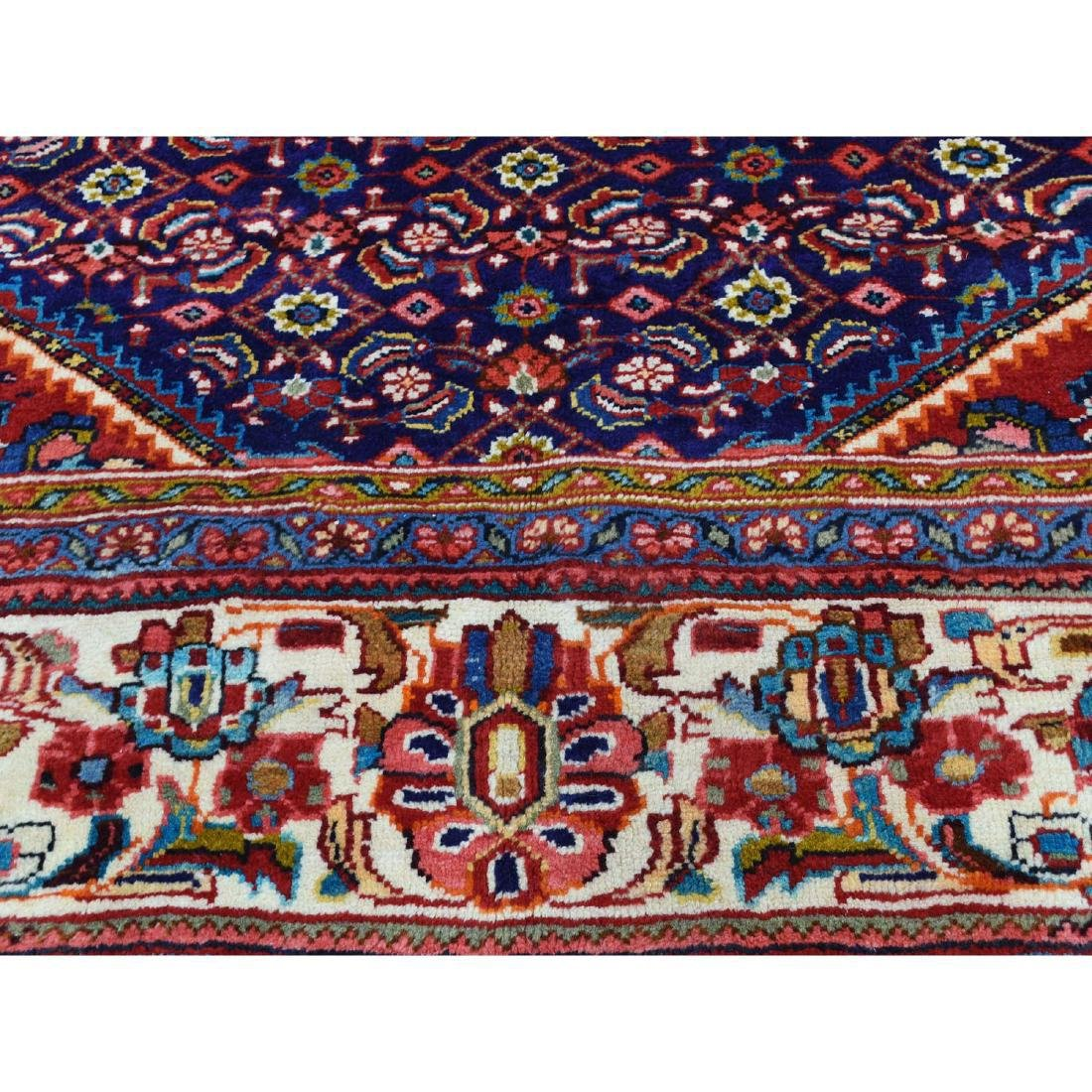 Hand Knotted Persian Mahal Pure Wool Blue Rug 10x13 - 8