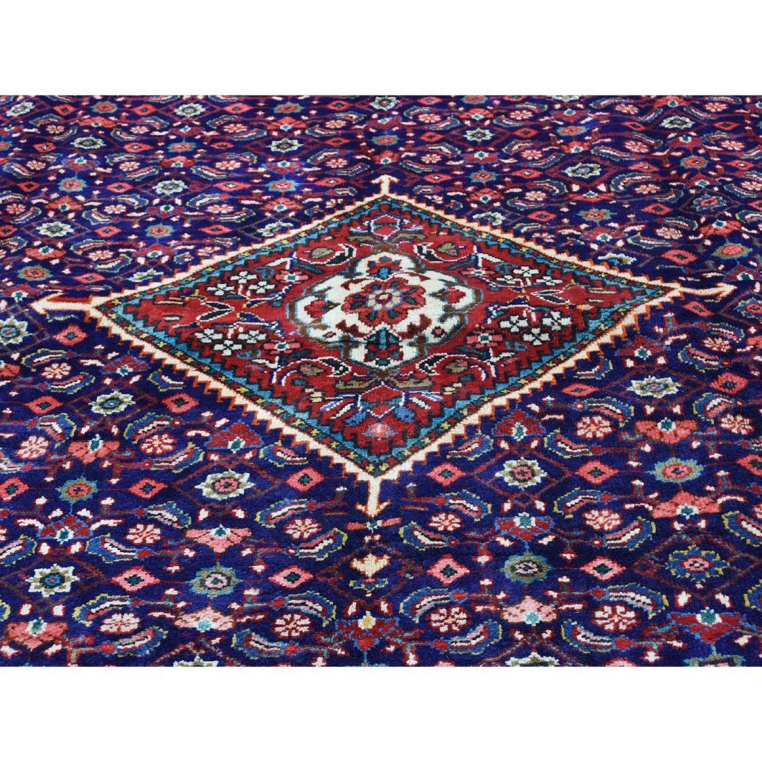 Hand Knotted Persian Mahal Pure Wool Blue Rug 10x13 - 9