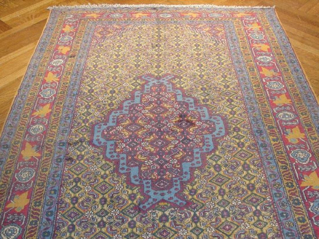 Gold Semi-Antique Persian Tabriz Hand-Knotted Rug 4.7x7 - 2