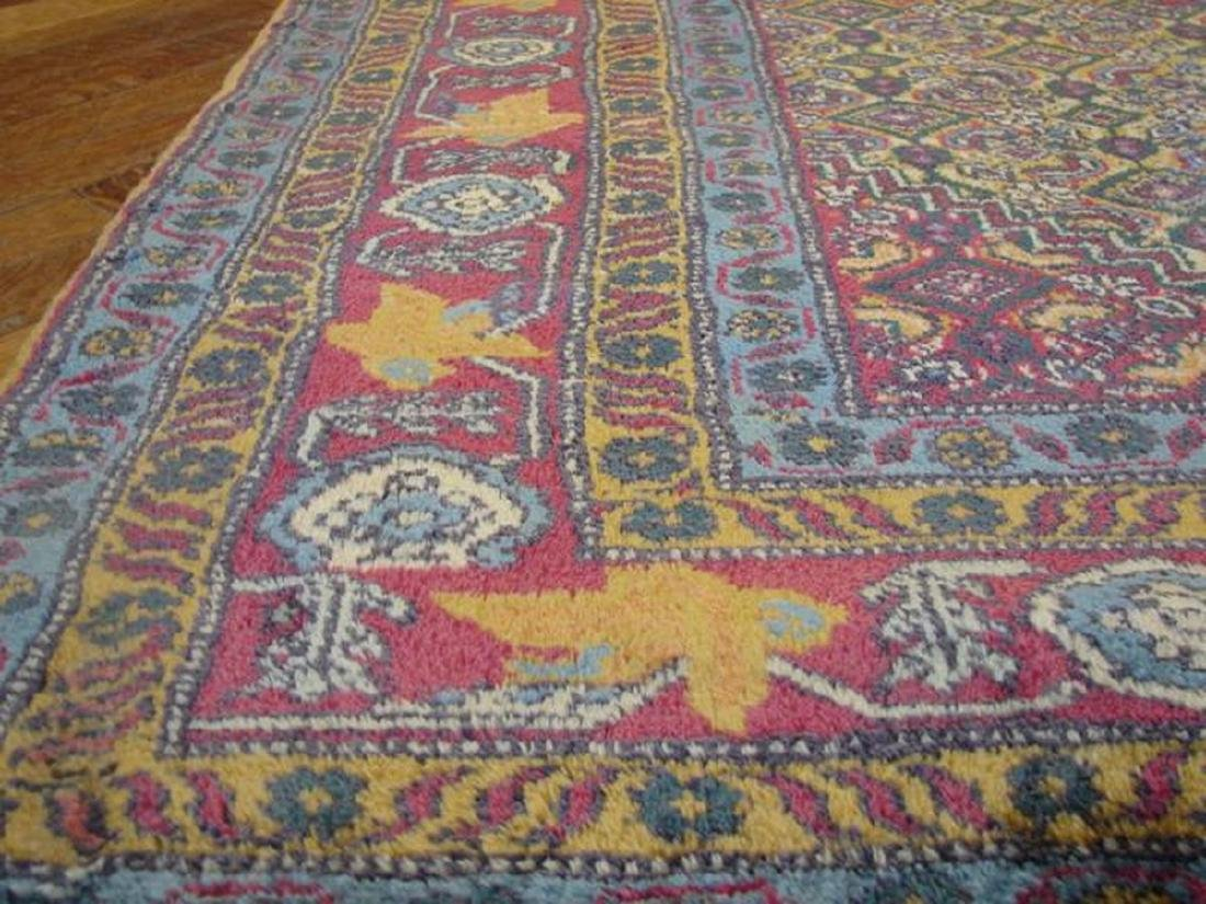 Gold Semi-Antique Persian Tabriz Hand-Knotted Rug 4.7x7 - 4