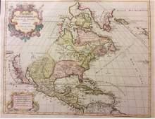 Elwe: Antique Rare Map of North America, 1792