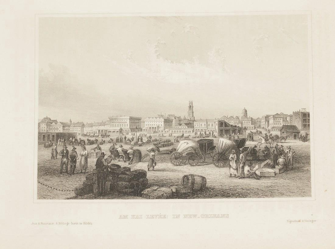 Meyer's Universum Antique View of New Orleans, 1860