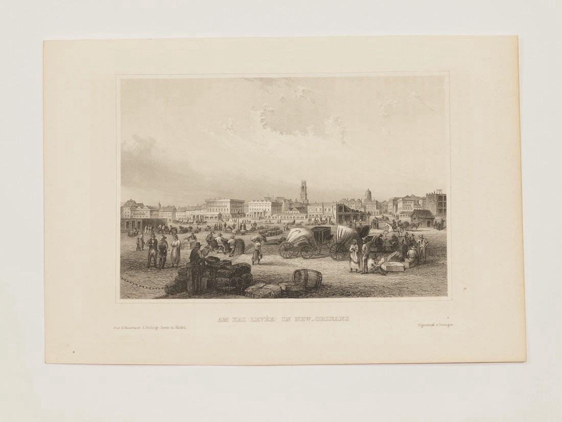 Meyer's Universum Antique View of New Orleans, 1860 - 2