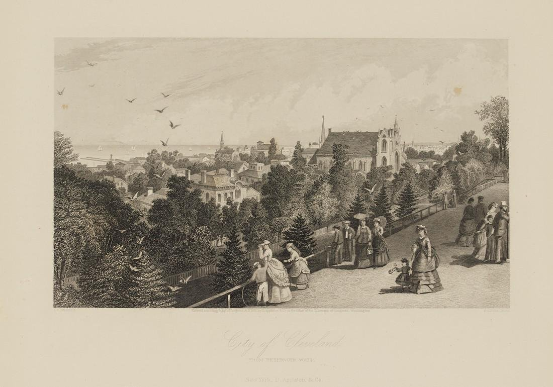 Antique View of Cleveland, 1870