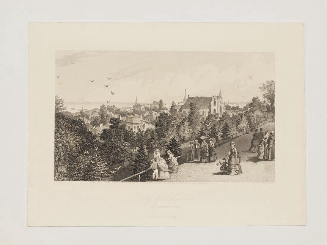 Antique View of Cleveland, 1870 - 2