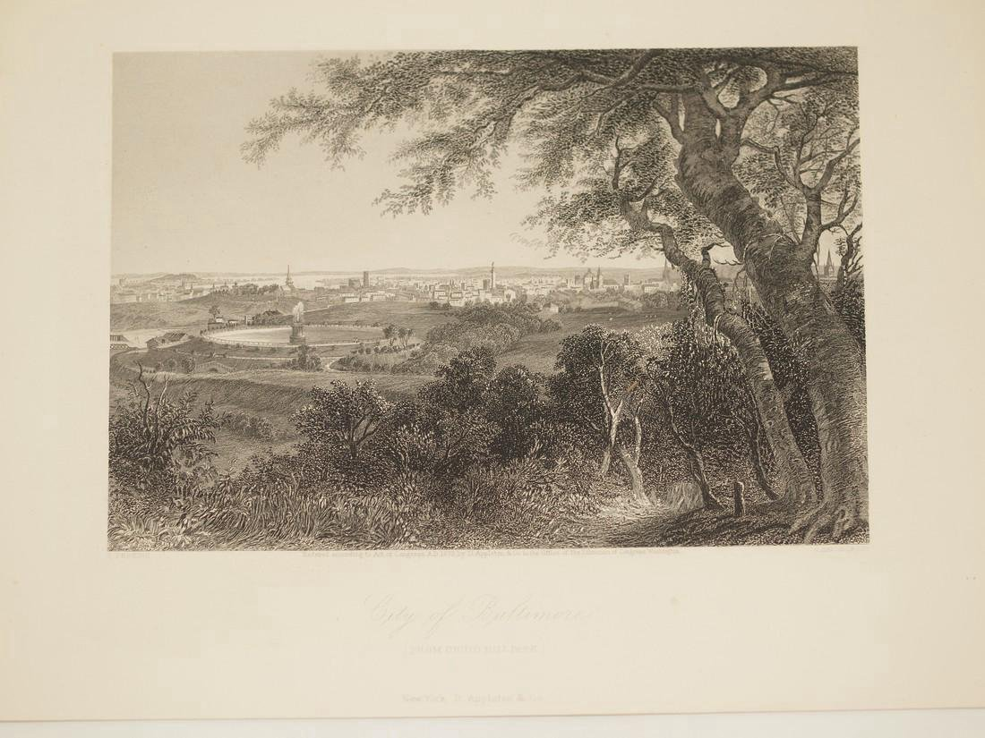 Perkins: Antique View of Baltimore, 1870