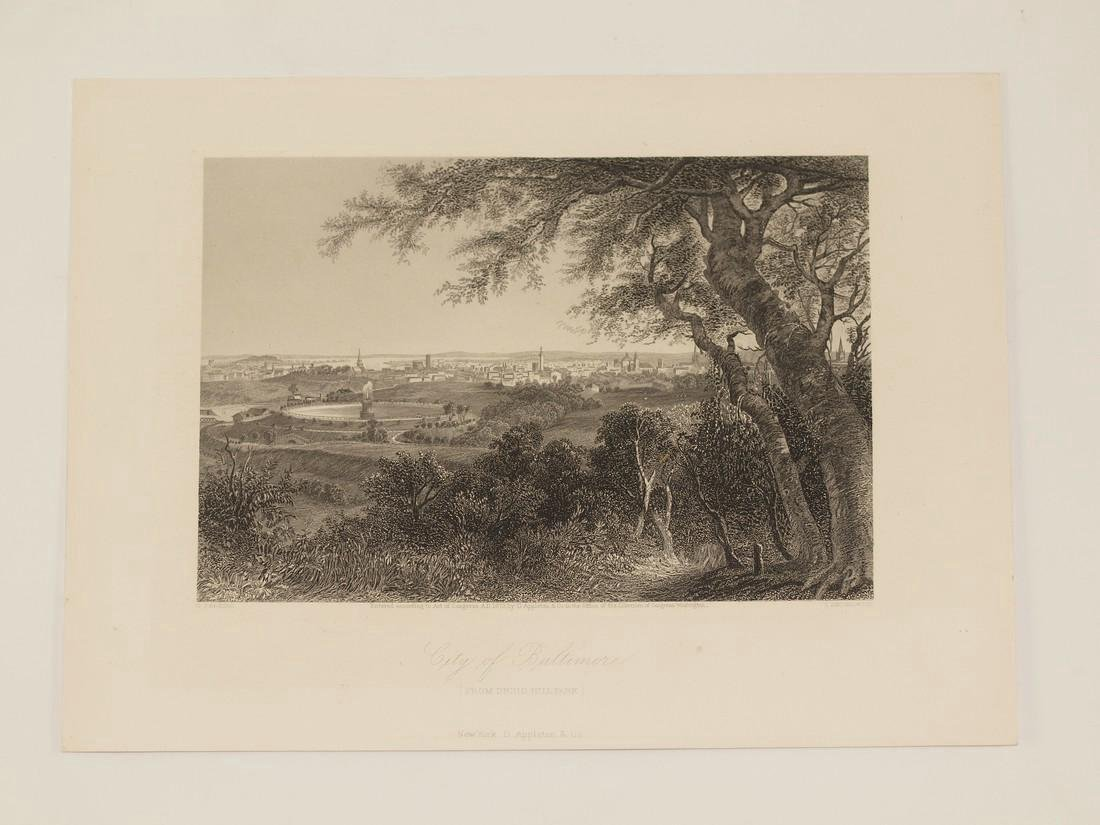 Perkins: Antique View of Baltimore, 1870 - 2