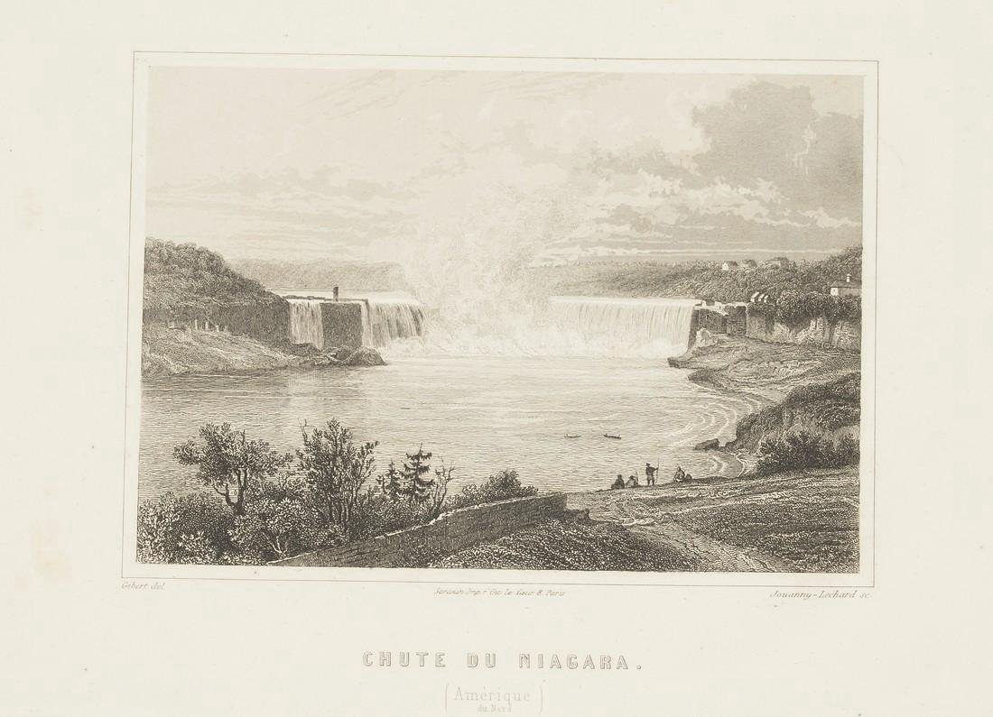 Gibert: Antique View of Niagara Falls, 1853
