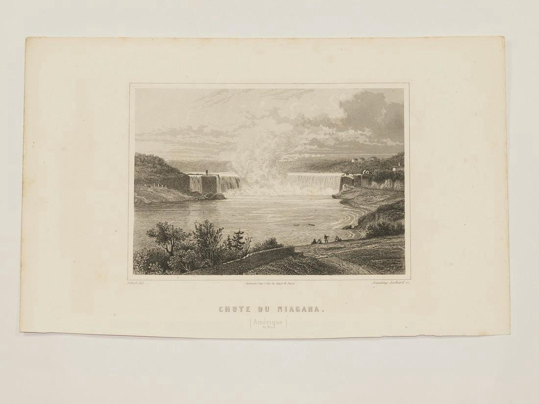 Gibert: Antique View of Niagara Falls, 1853 - 2