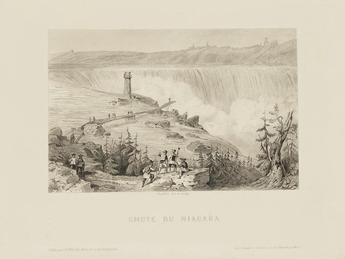 Chaillot: Antique View of Niagara Falls, 1855