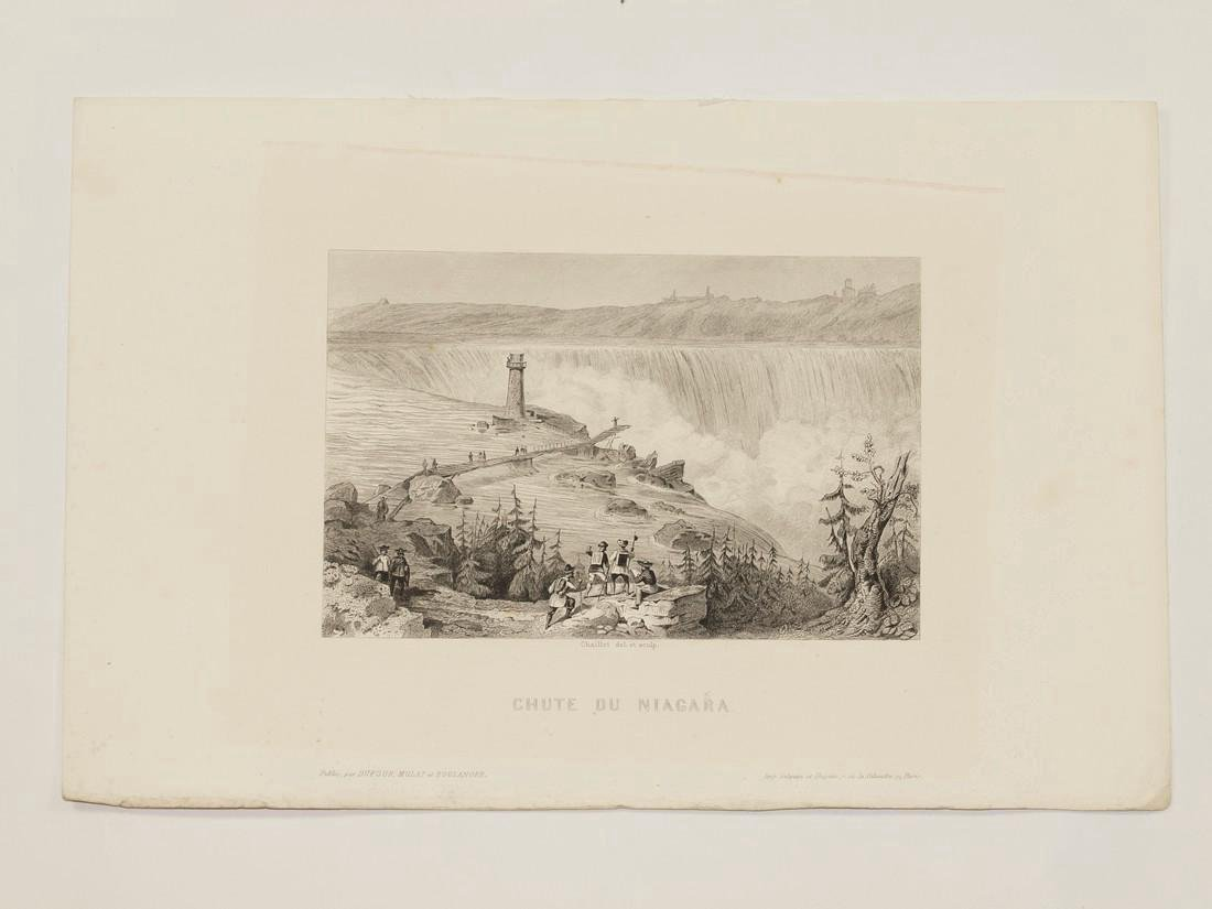 Chaillot: Antique View of Niagara Falls, 1855 - 2
