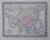 Mitchell: Antique Map of Asia [verso] Middle East, 1878