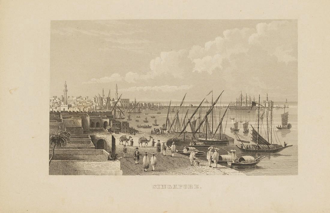 Antique View of Singapore 1870