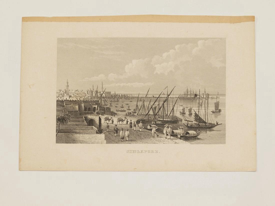 Antique View of Singapore 1870 - 2