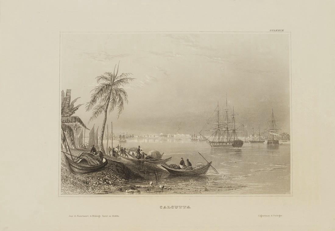 Hildburghausen Antique View Kolkata Calcutta India 1860