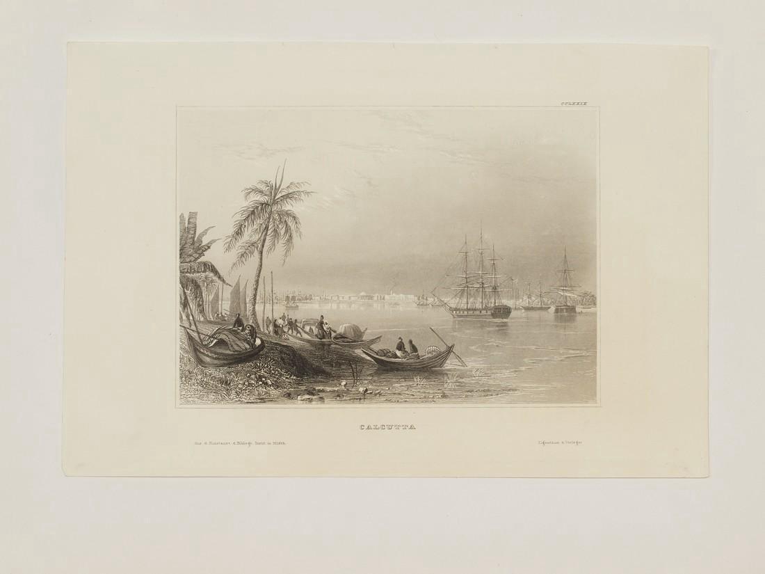 Hildburghausen Antique View Kolkata Calcutta India 1860 - 2
