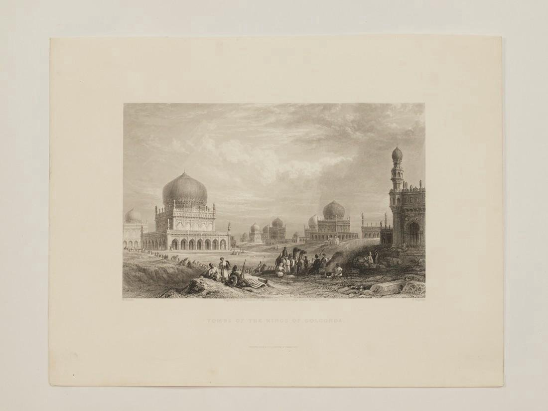 Purser: Antique View Tombs Kings Golkonda India 1845 - 2