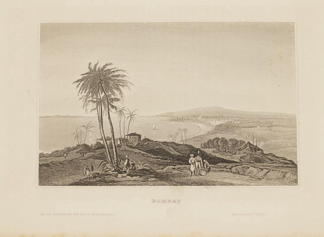 Hildburghausen: Antique View Bombay Mumbai India 1860