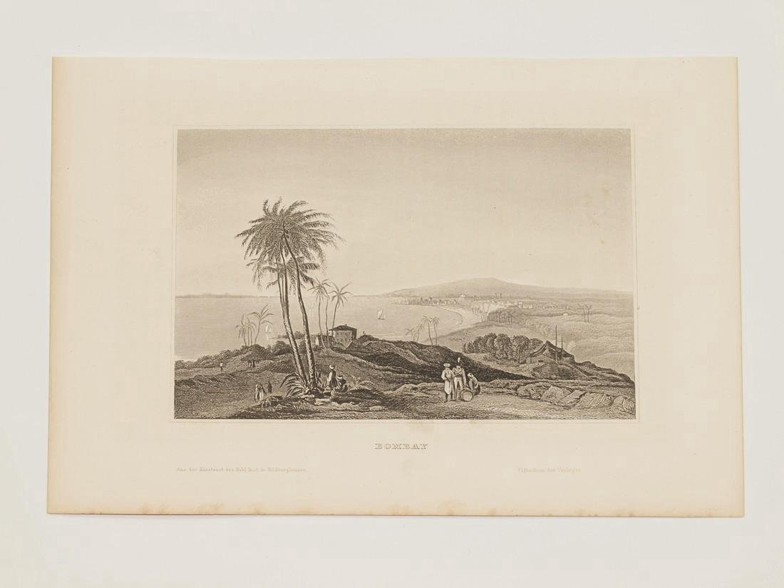 Hildburghausen: Antique View Bombay Mumbai India 1860 - 2