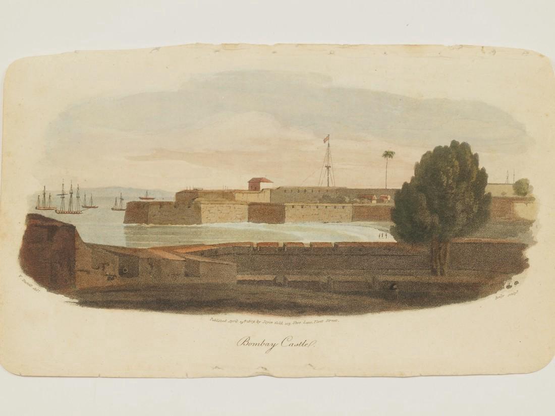 Westall: Antique View Bombay Mumbai India 1809