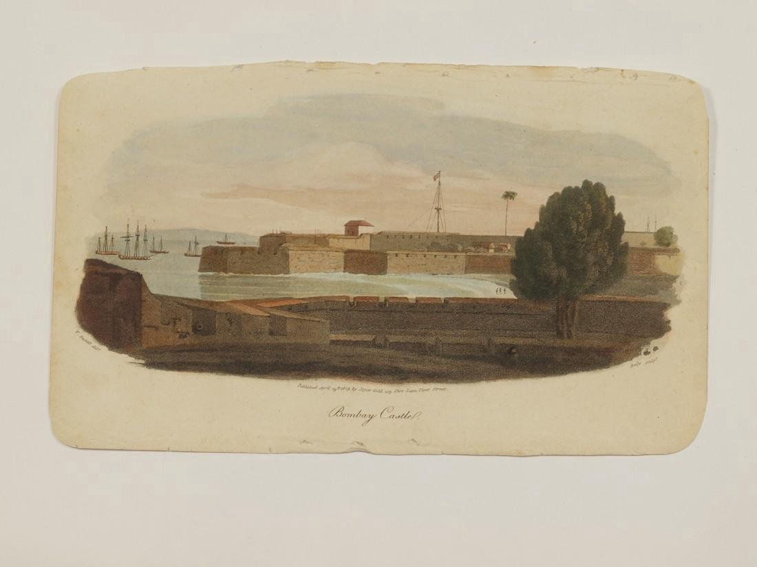 Westall: Antique View Bombay Mumbai India 1809 - 2