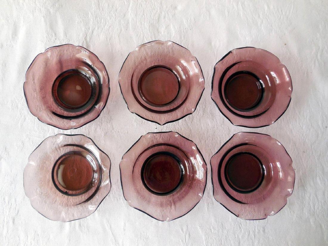 Mid-Century Amethyst Glass Salt/Nut Dishes - 2