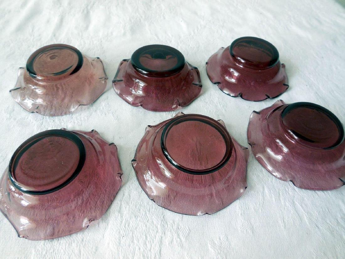 Mid-Century Amethyst Glass Salt/Nut Dishes - 4