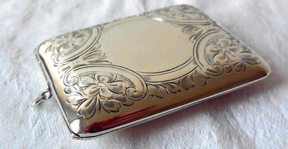 Antique Sterling Silver Card Case, Purse, 1895