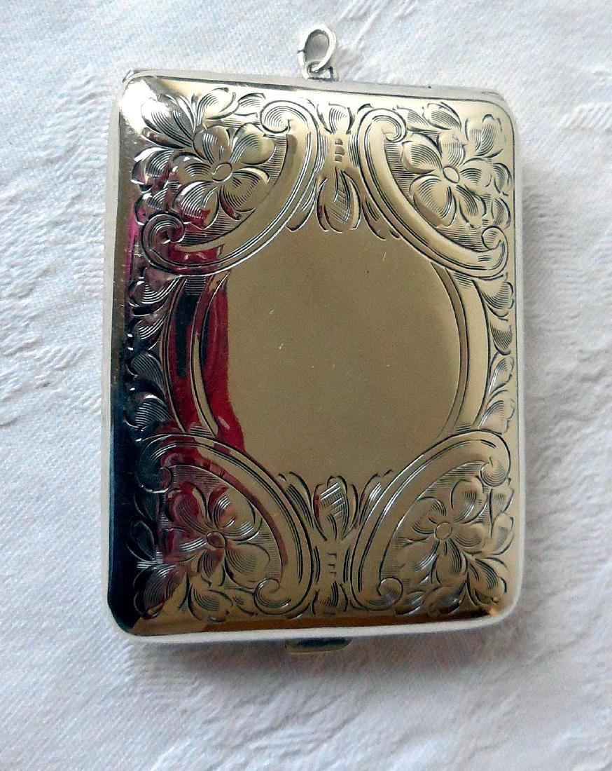 Antique Sterling Silver Card Case, Purse, 1895 - 2