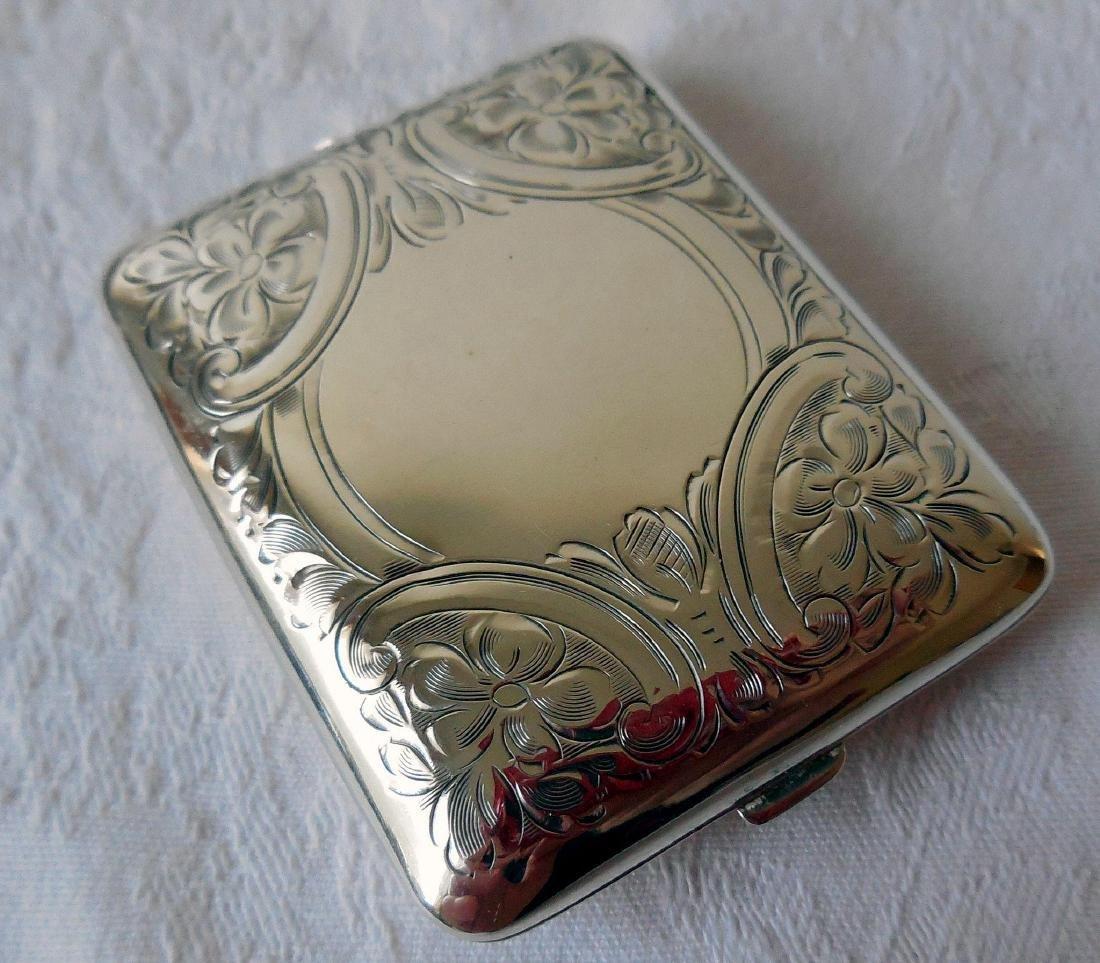 Antique Sterling Silver Card Case, Purse, 1895 - 3