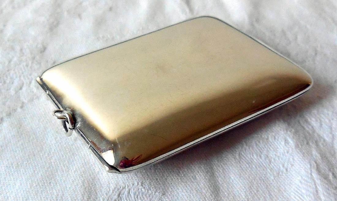 Antique Sterling Silver Card Case, Purse, 1895 - 6