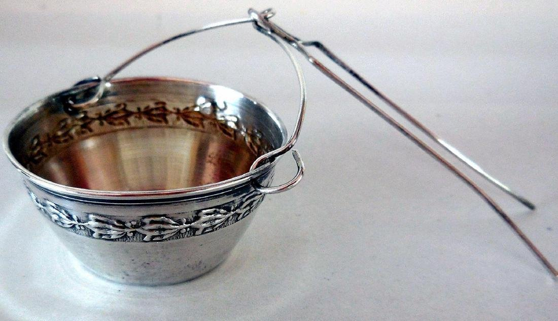 Antique French .950 Silver Tea Strainer, c1900