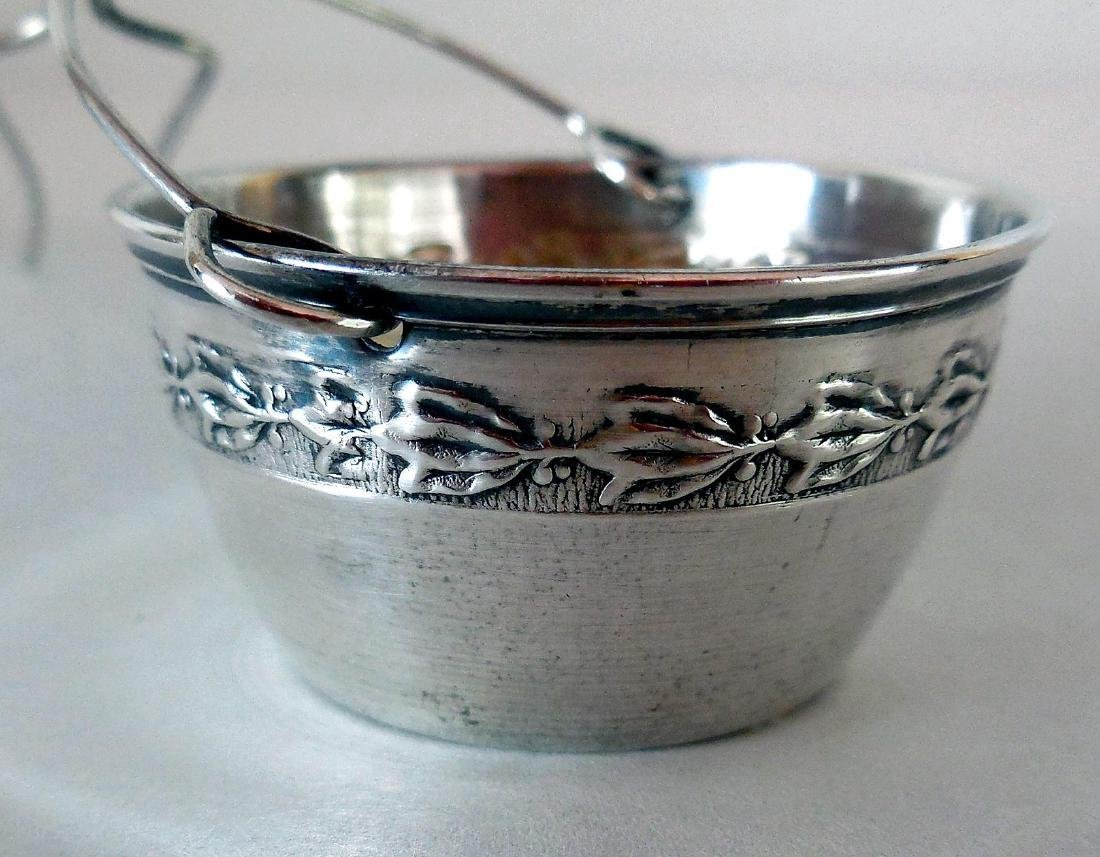 Antique French .950 Silver Tea Strainer, c1900 - 2