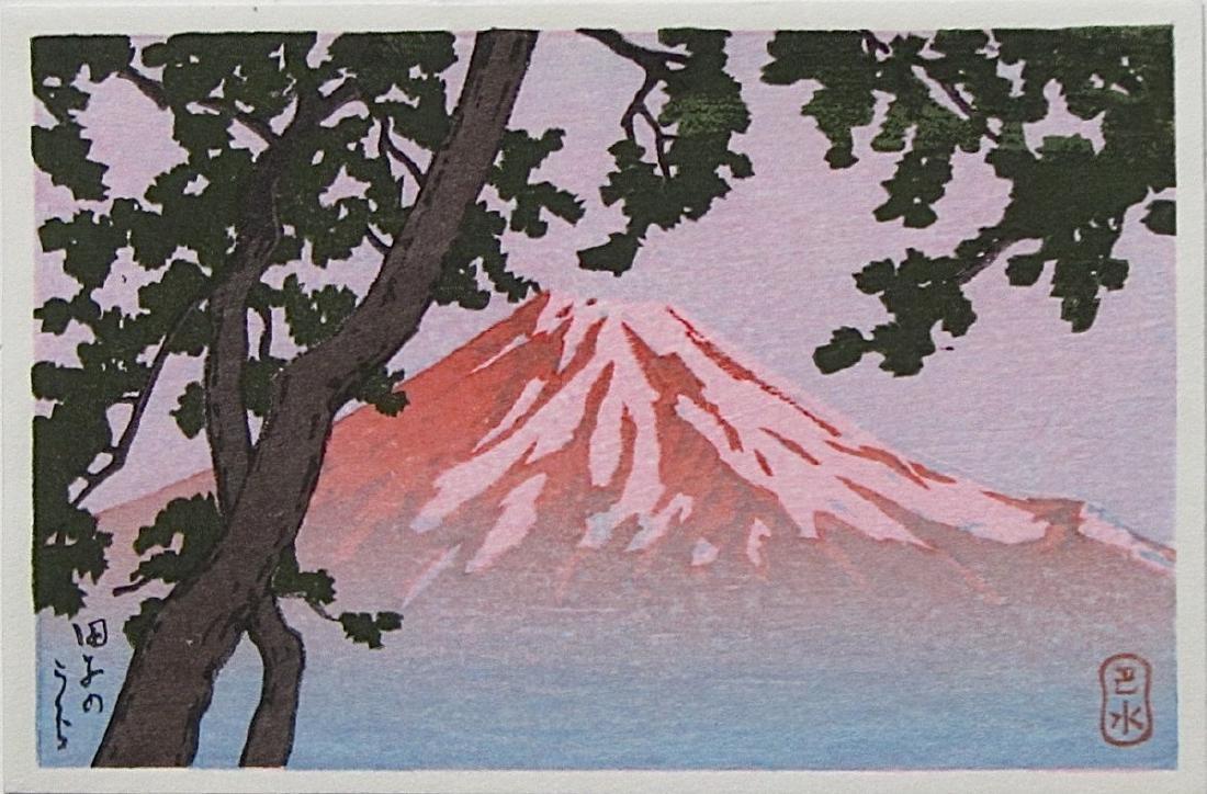 Kawase Hasui Woodblock Mount Fuji from Tago