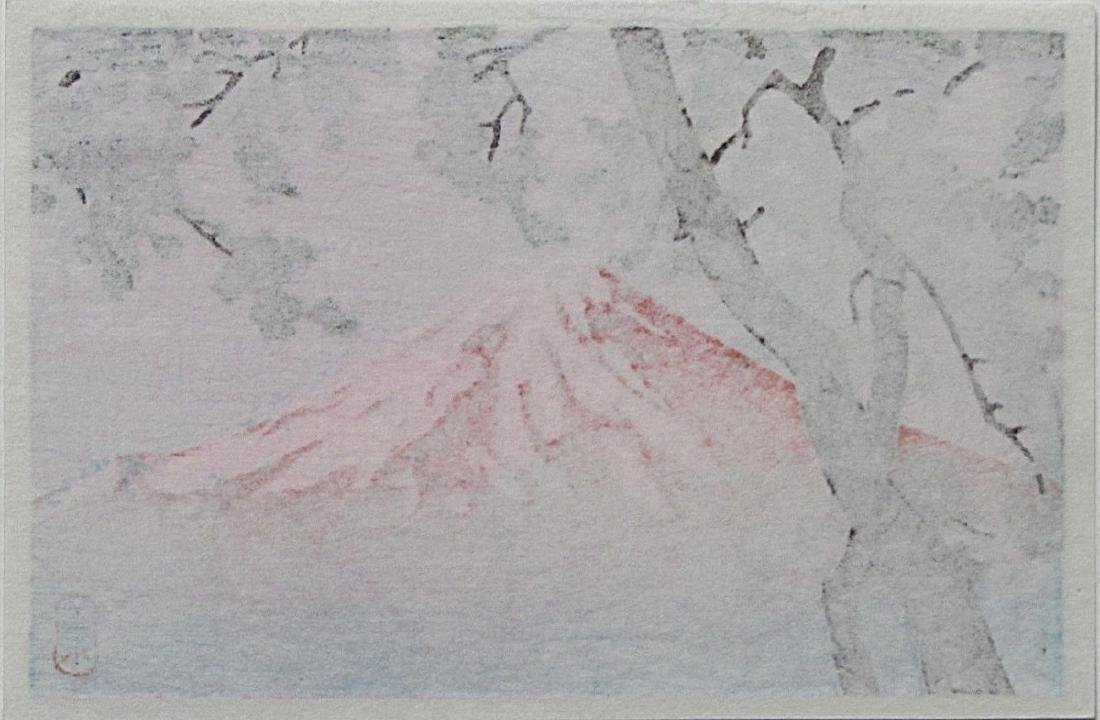 Kawase Hasui Woodblock Mount Fuji from Tago - 2