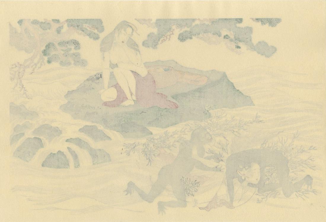 Utamaro Kitagawa Woodblock Rape of the Awabi Diver - 2