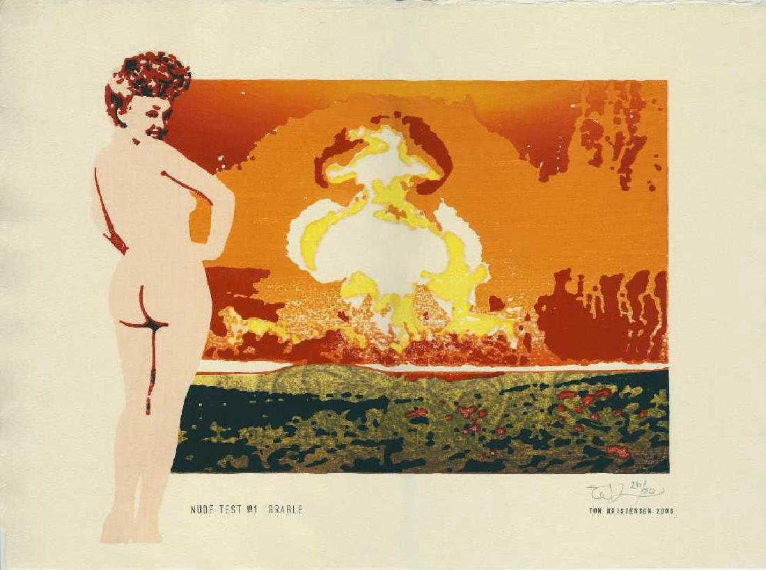 Tom Kristensen Woodblock Nude Test #1 Grable