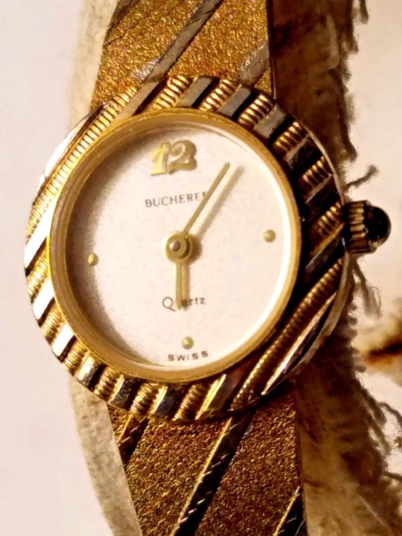 Bucherer Ladies Two Tone Gold Plated Quartz Watch
