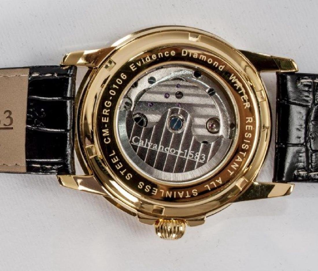 Calvaneo Evidence Diamond Gold Plated Dualtimer Watch - 6