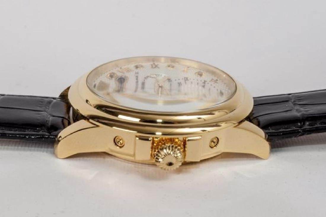 Calvaneo Evidence Diamond Gold Plated Dualtimer Watch - 7
