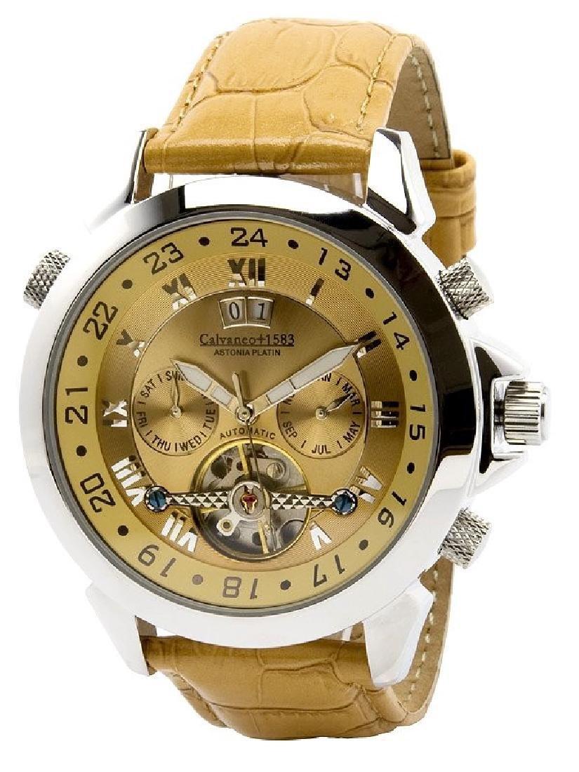 Calvaneo 1583 Astonia Whiskey Platin Automatic Watch