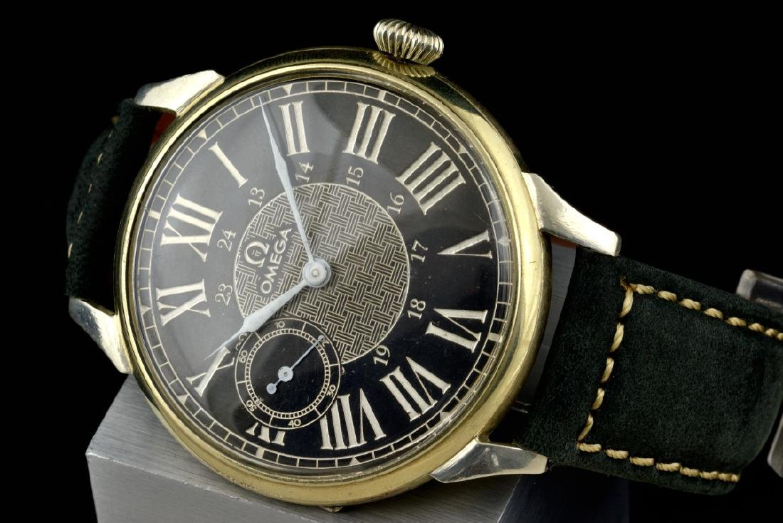 Omega Black Marriage Watch, From Orginal Pocketwatch - 3