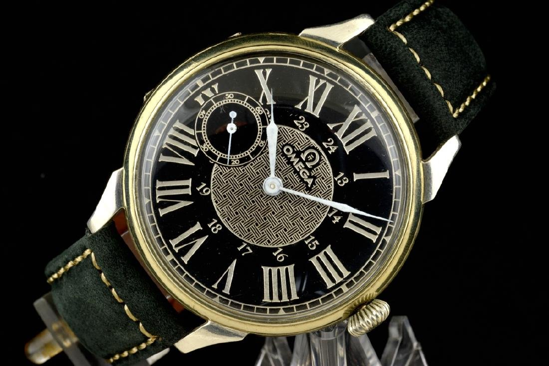 Omega Black Marriage Watch, From Orginal Pocketwatch - 4