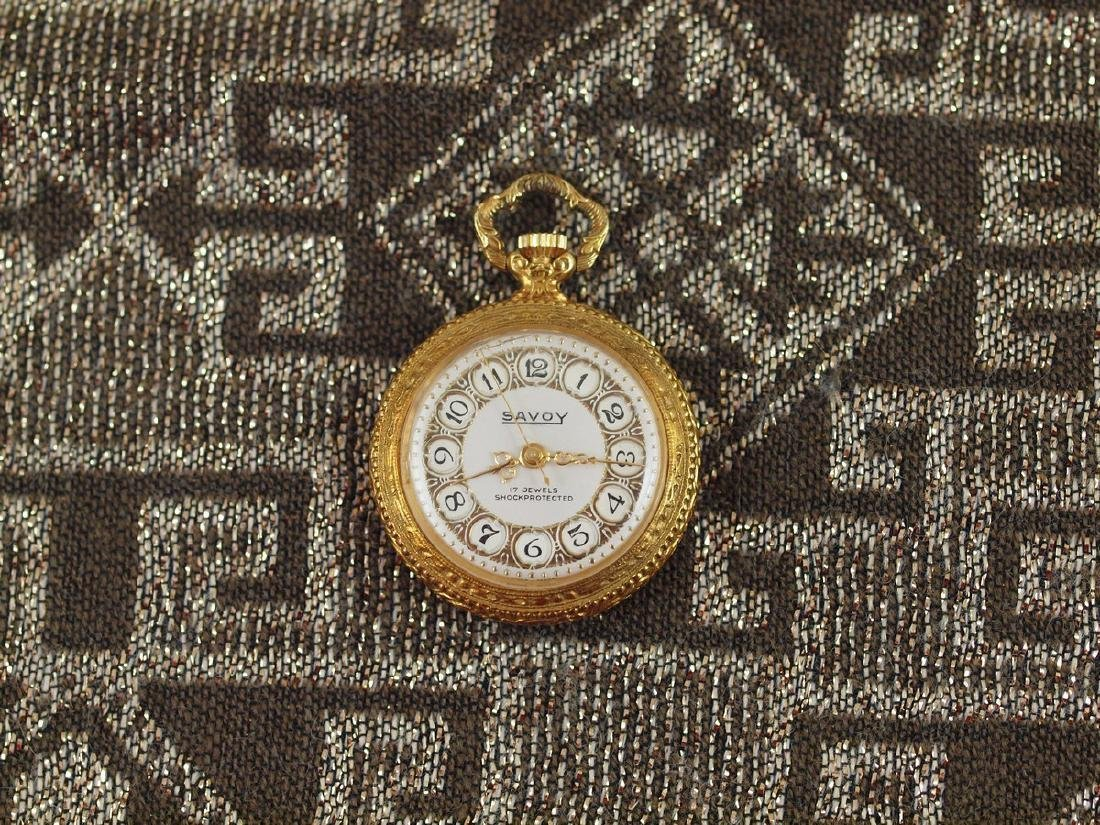 Vintage Savoy Art Deco Gold Plated Pocket Watch